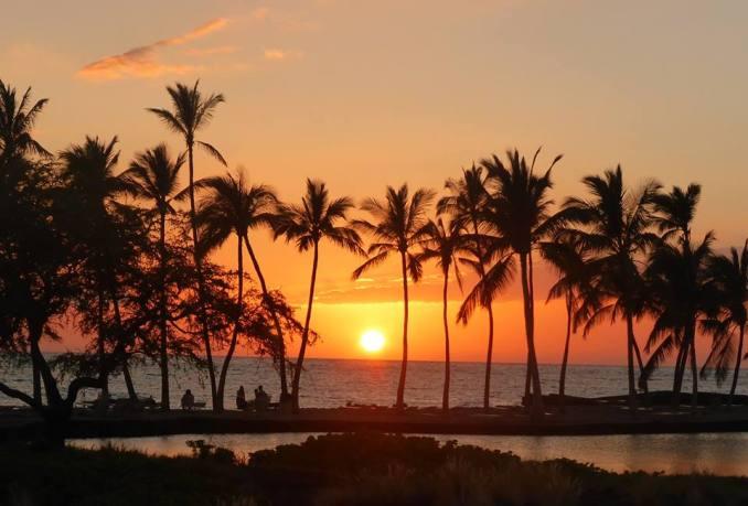 Big island - couché de soleil
